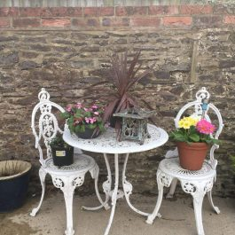 Vintage Bistro Garden Table and Chairs