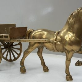 Vintage Brass Horse and Cart