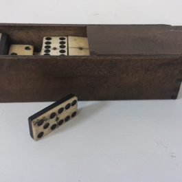 Antique Ebony and Ivory Set of Dominos