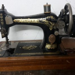 Antique Singer Sewing Machine with Original Box