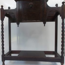 Antique Oak Umbrella Stand with Barley Twist Legs