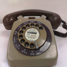 Vintage British Rail Rotary Telephone – Khaki Green and Brown