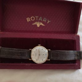 Vintage Rotary rolled gold mens watch