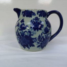 Antique large Ironstone Jug Blue Transferware